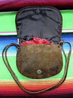 Kippys Large Belt Pouch Crossbody Bag with Horses Open
