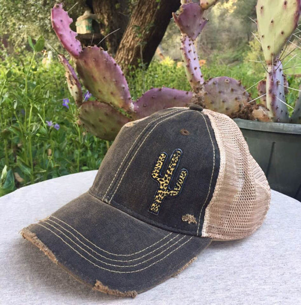 Original Cowgirl Clothing Leopard Spots Cactus Ball Cap Spicy Mustard #27020020