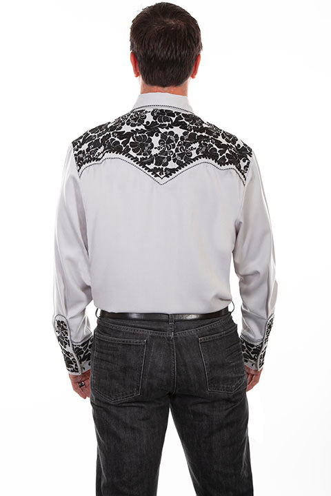 Scully Men's Vintage Inspired Western Shirt Gunfighter Steel Back