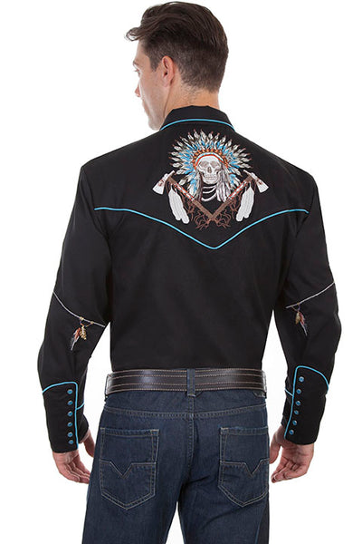 Scully Leather Co. Men's Embroidered Shirt Dream Catcher Front