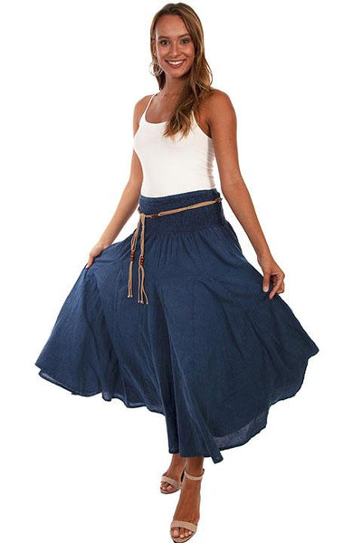 Ladies' Scully Cantina Collection Dark Blue Cotton Skirt