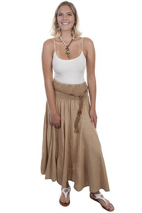 Ladies' Scully Cantina Collection Khaki Cotton Skirt