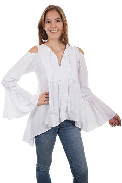 Cantina Collection Tunic with Cold Shoulder Sleeves