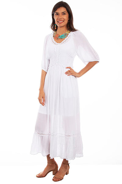 Cantina Collectoin Maxi Dress White Front #719253