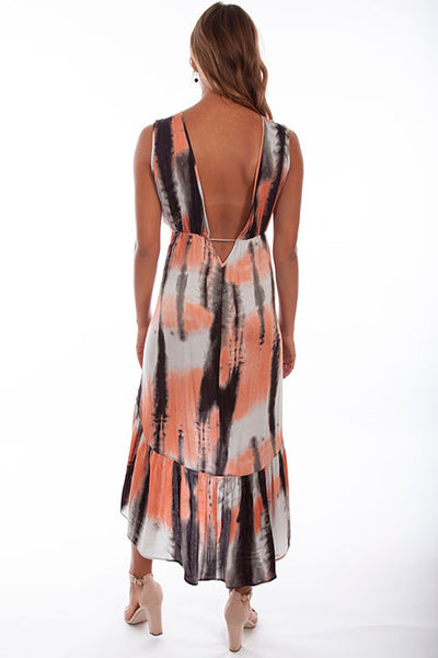 Cantina Collection Hi Lo Tie Dyed Dress Front #719254