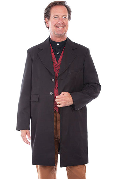 Scully Rangewear Old West 100% Poly Black Frock Coat Front