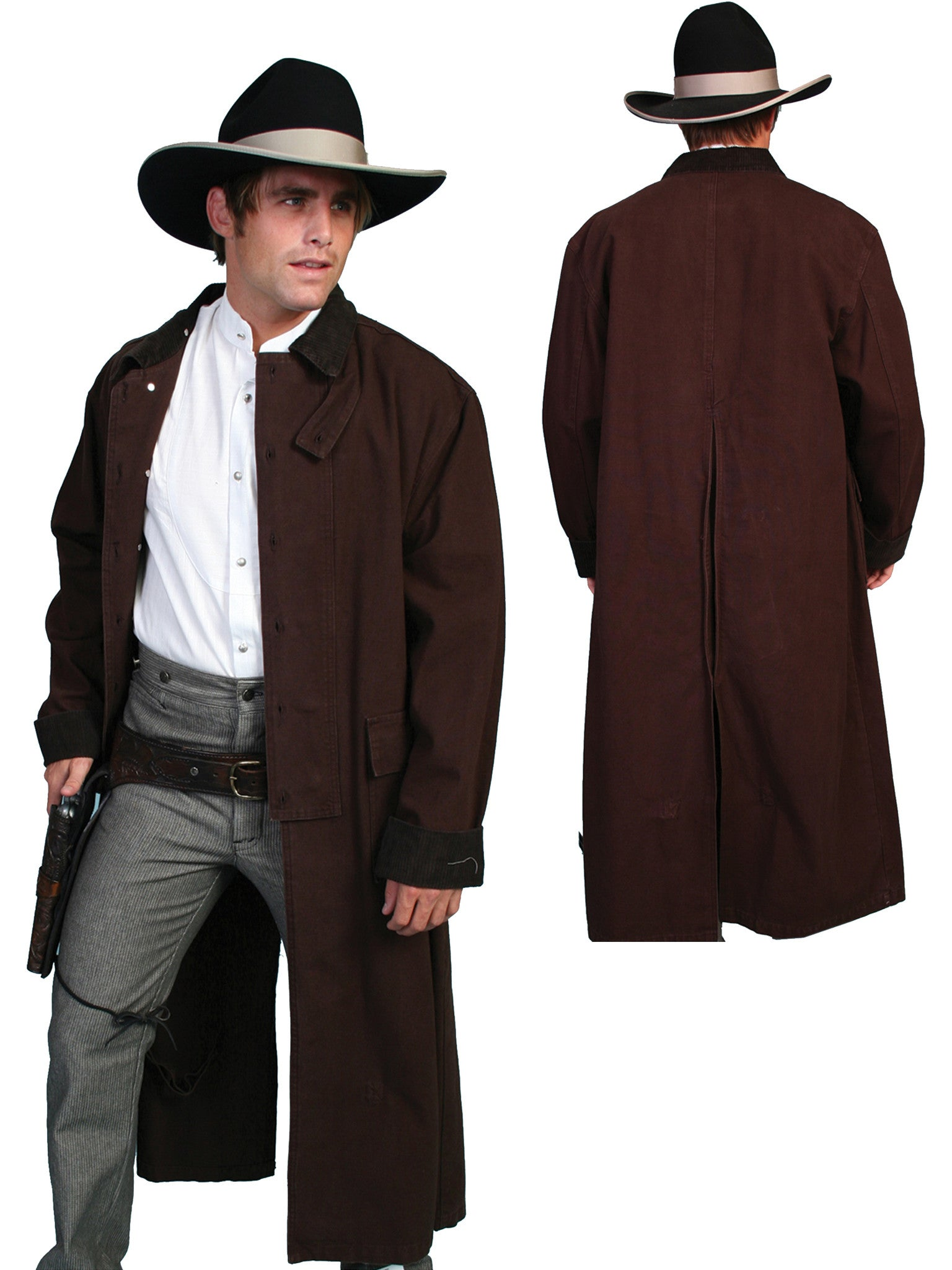Men S Old West Collection Coat Rangewear Duster Outwest