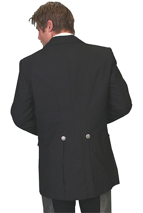 Scully Mens Old West Rangewear Classic Black Jacket Back