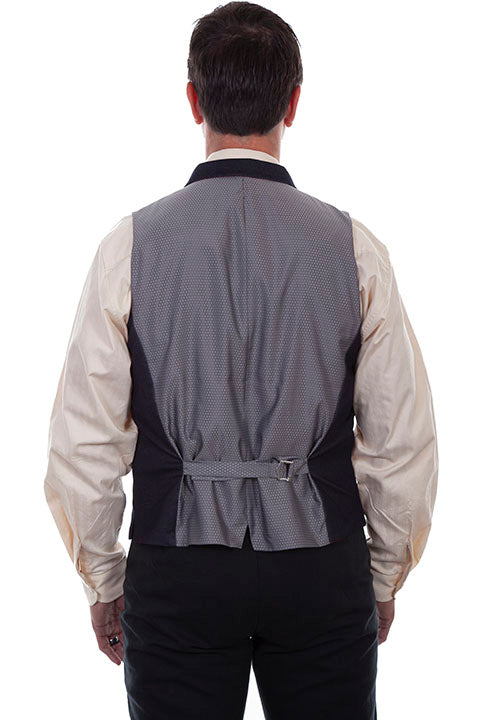 Scully Men's Rangewear Old West Business Vest Back
