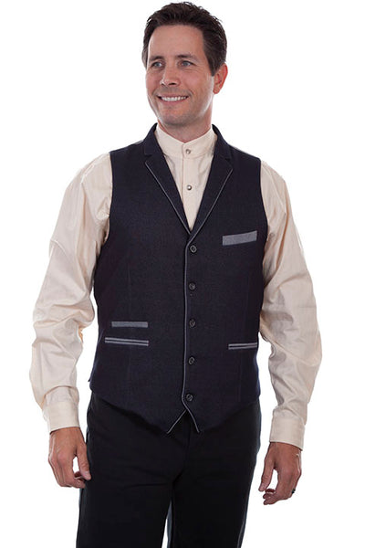 Scully Men's Rangewear Old West Business Vest Front