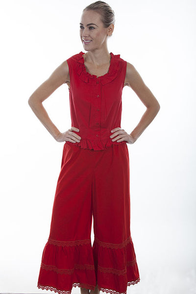 Scully Ladies Old West Rangewear Bloomers Red Front