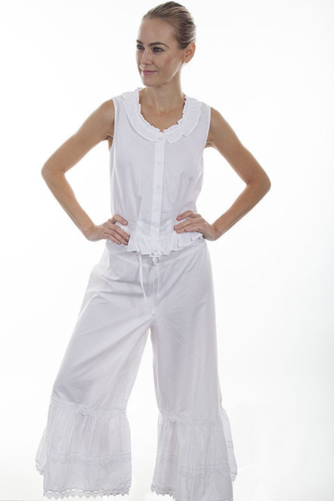 Scully Ladies Old West Rangewear Bloomers White Front
