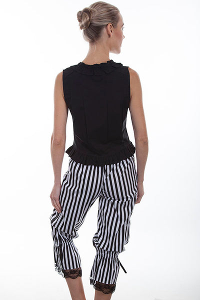 Scully Old West Ladies Rangewear Striped Black and White Bloomers
