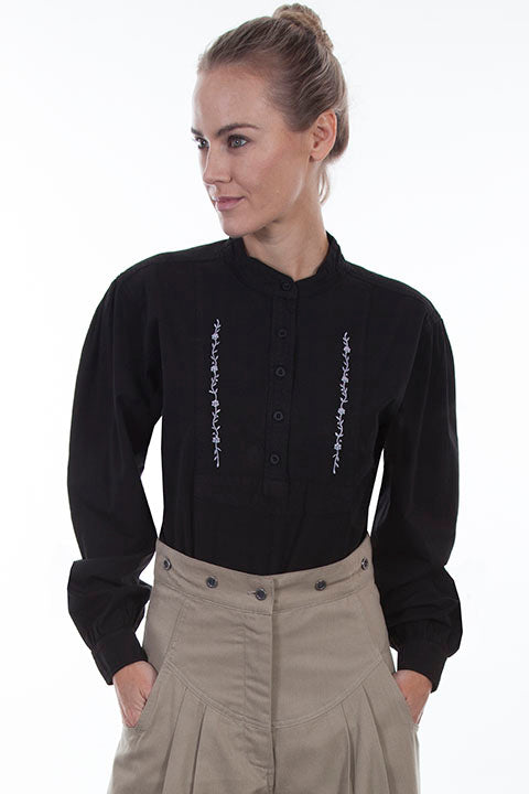 Scully Ladies Rangewear Old West Blouse with Inset Bib Front