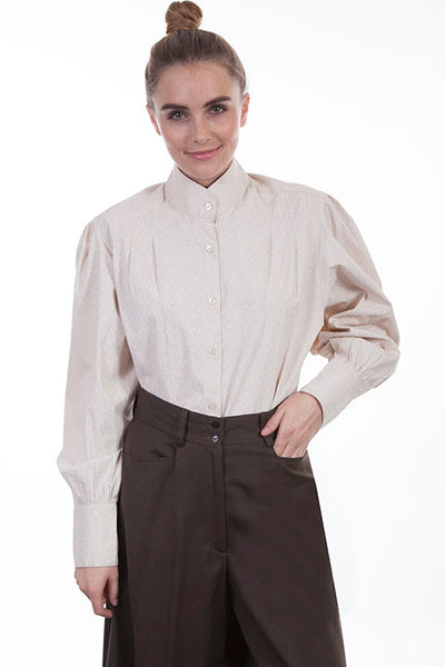 Scully Ladies' Old West Rangewear Working Shirt Natural Front