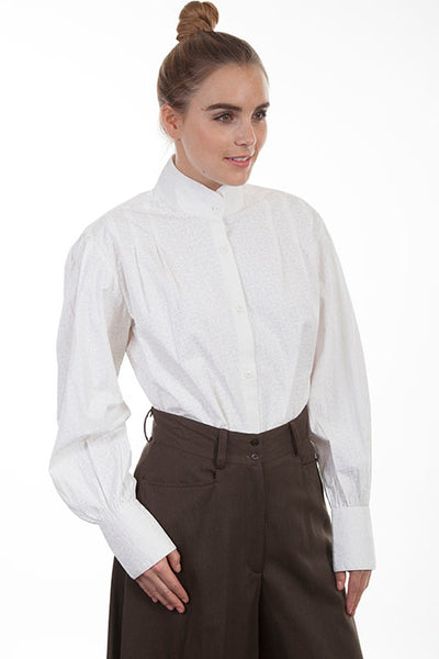 Scully Ladies' Old West Rangewear Ranch Work Blouse White Front