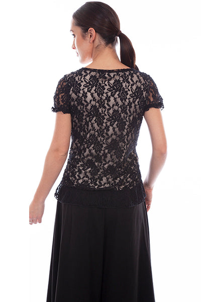 Women's Scully Rangewear Crochet Lace Top Front