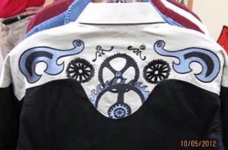 Rockmount Ranch Wear Men's Vintage Western Steampunk Shirt Back