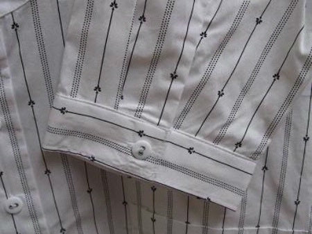 Scully Men's Old West Rangewear Tombstone Collar Shirt White with Black Stripes Cuff