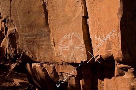 In The Lens Photography: Circle Petroglyph, Palatki Ruins, Sedona Color