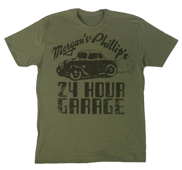 Morgan's & Phillip's 24 Hour Gararge T-Shirt