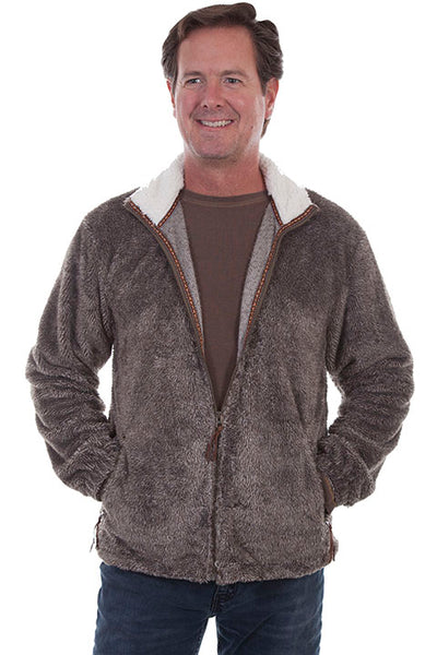 Men's Farthest Point Plush Jacket Front #TR-075