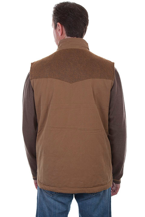 Men's Farthest Point Canvas Vest Back TR-079