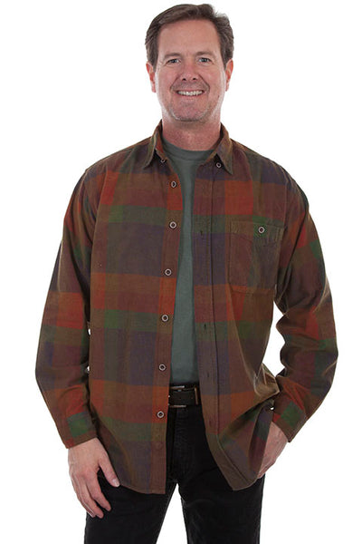 Men's Farthest Point Corduroy Color Block Front TR-085