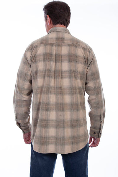 Men's Farthest Point Plaid Blue Tan Front TR-106