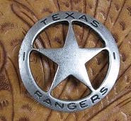 Historic Replica Badge Texas Rangers Star Front