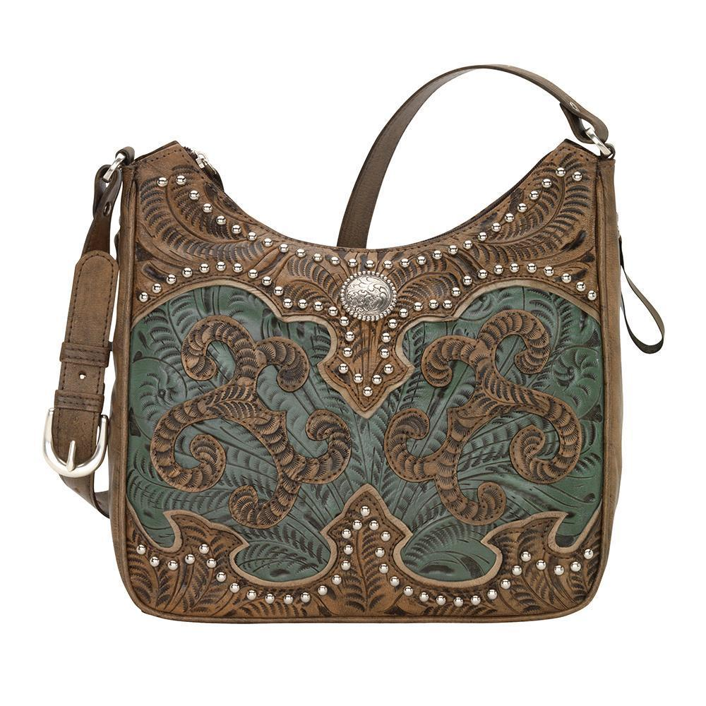 American West Annie's Secret Concealed Carry Shoulder Bag Front Turquoise