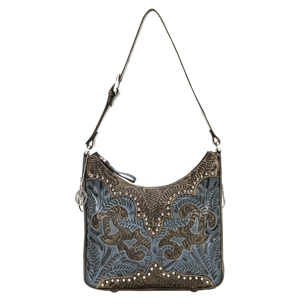 American West Handbag, Annie's Secret Collection, Shoulder Bag, Front Denim Blue