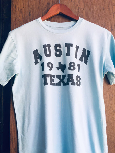 Men's M&P Speed Shop T-Shirt: Vintage Austin 1981 Texas