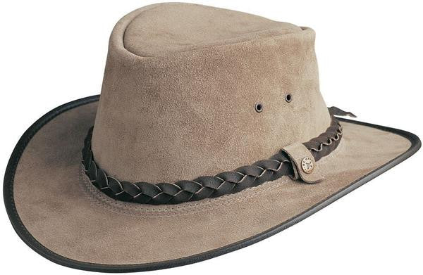Conner Handmade Hats Bac Pac Traveler Bark Suede Side