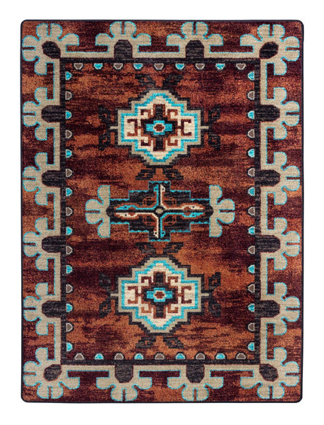 American Dakota Rug Badlands Rust Rectangle