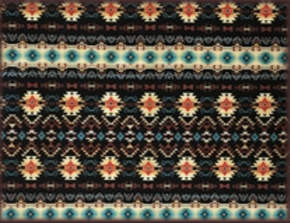Rockmount Ranch Wear Bandana Native American Print Black