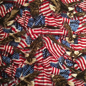 Rockmount Ranch Wear Bandana Eagles and Flags Print