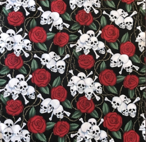 Rockmount Ranch Wear Bandana Skulls and Roses