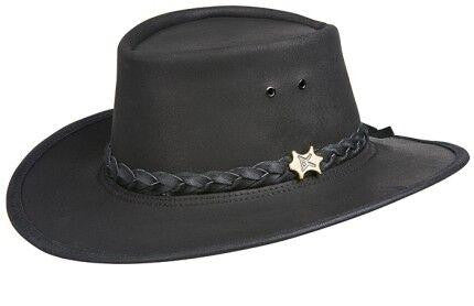 Conner Handmade Hats Stockman Oily Leather Side Front