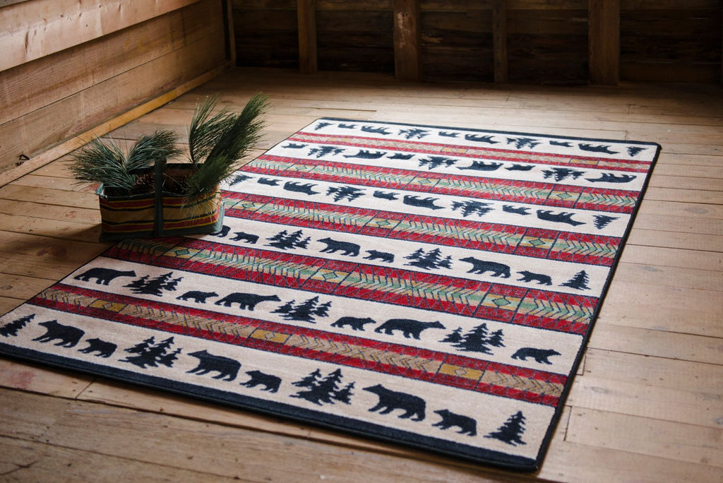 National Park Collection: Bear Adventure Area Rugs