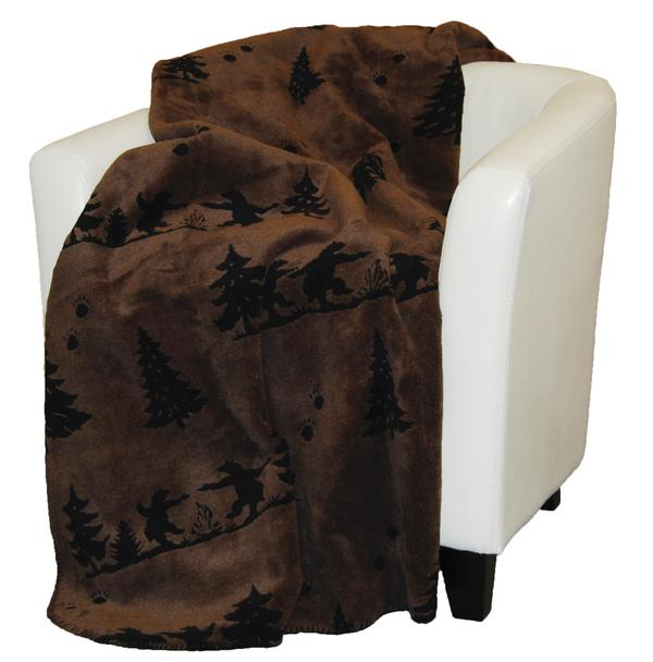 Denali Blankets Bear Boogie Throw Front on Chair