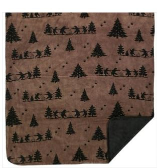 Denali Blankets Bear Boogie Throw Front