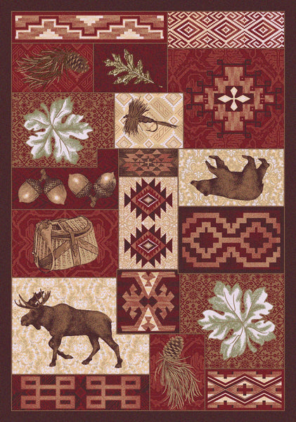 American Dakota Bear Creek Lodge Area Rug