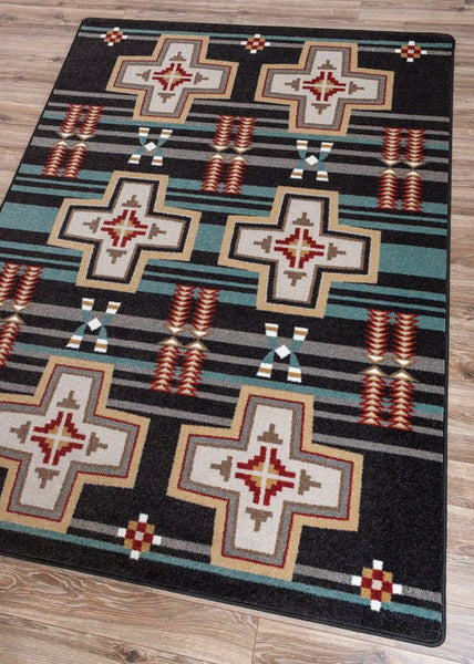 American Dakota Rug Grand River Black Rectangle
