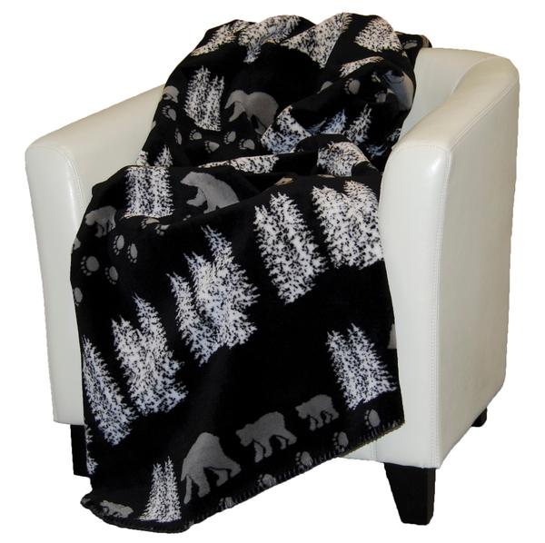 Denali Blankets Black Bear Blanket Front on Chair