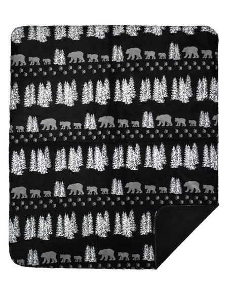 Denali Blankets Black Bear Throw Blanket Front