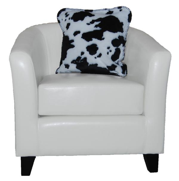 Denali Blankets Black and White Cow Print Pillow on Chair