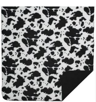 Denali Blankets Black and White Cow Print Throw Blanket Front