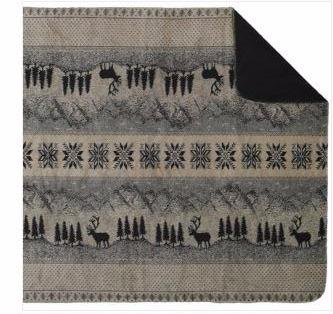 Denali Blankets Black Forest Friends Throw Blanket Front