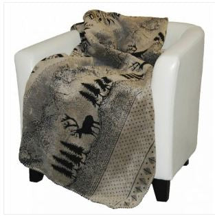 Denali Blankets Black Forest Friends Throw Blanket on Chair